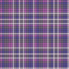 Purple pixel plaid fabric texture seamless pattern