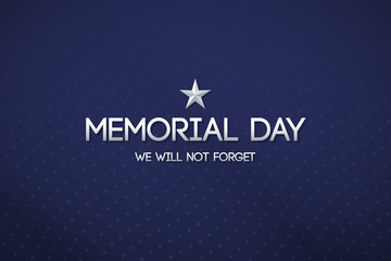 Blue patriotic background for Memorial day