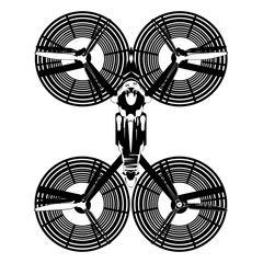 Hover bike vector flat top view illustration