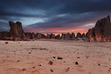 Photo sur Plexiglas Secheresse Sahara Desert, Tassili N'Ajjer, Algeria