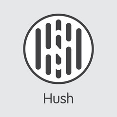Hush Cryptocurrency - Vector Colored Logo.