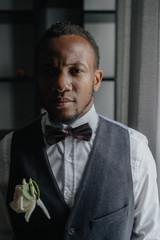 Handsome african American groom