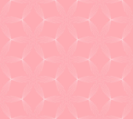 The geometric pattern with lines . Seamless vector background. Pink and white texture. Graphic modern pattern.
