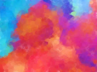 Multicolored background in watercolor and oil painting style