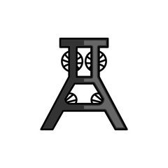 Abstract bench logo