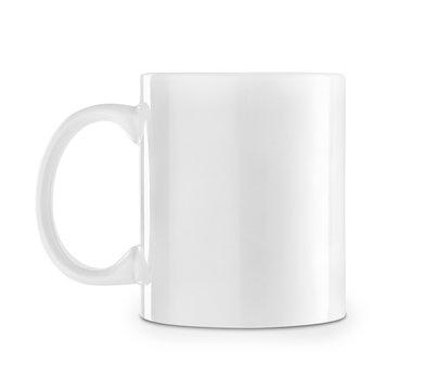 white mug isolated on white