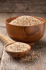 quinoa in a wooden bowl
