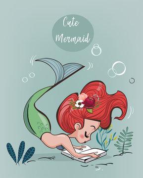 cute cartoon mermaid