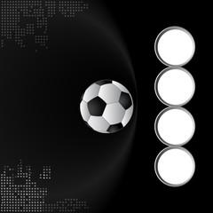 Football team background, Semi-final match team, balck background