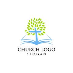 Church logo modern vector graphic abstract