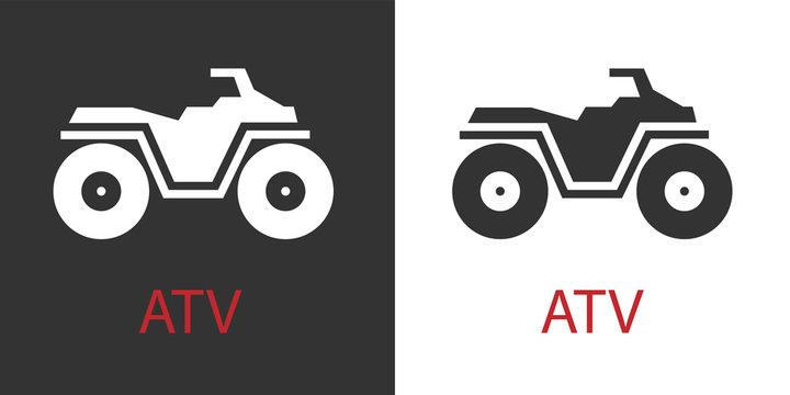 Quad atv icon isolated vector symbol