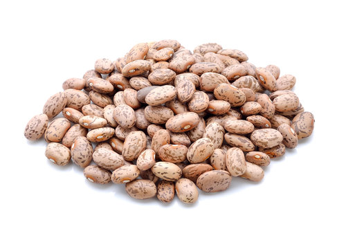 Pinto beans isolated on white background