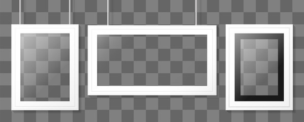 White poster or picture frame. Vector template.