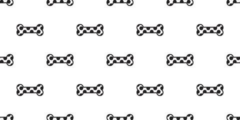Dog Bone Seamless pattern vector isolated dog paw polka dot background wallpaper