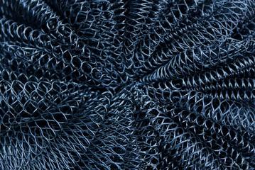 чёрная пластиковая текстура из куска мочалки