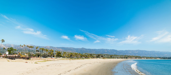 White sand in Santa Barbara shoreline