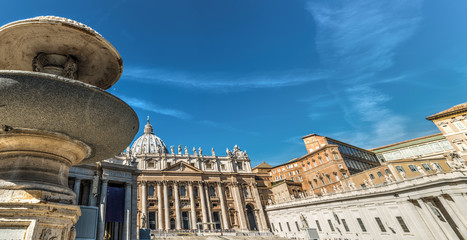 Twin fountain in world famous Saint Peter's square