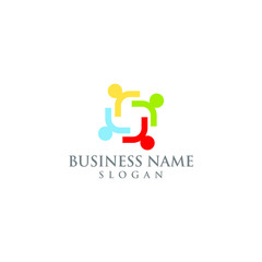 business people health vector logo graphic abstract