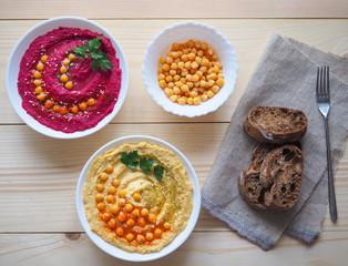 Healthy diet food from the chickpeas. Ramadan food.