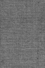 Black Burlap Canvas Coarse Grunge Background Texture
