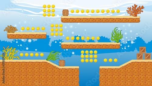 Tile set platform for game, A set of layered vector game