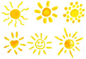 Sonnen Set Malerei