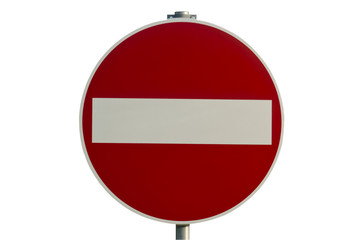 road sign for the wrong way