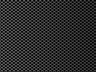 Obraz Wire mesh. Vector illustration on black background. - fototapety do salonu