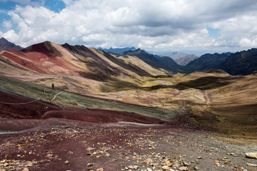 Vinicunca rainbow mountains in Peru