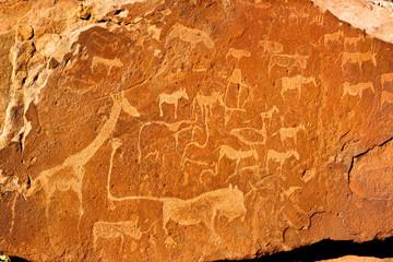 Felszeichnungen Twyfelfontein Namibia
