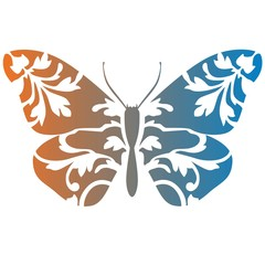 Butterfly stencil art gradient