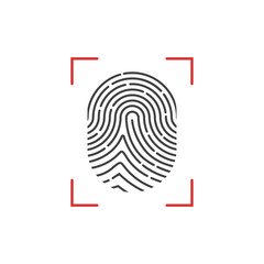 Finger print scan. Vector. Isolated.