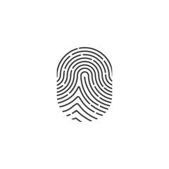 Finger print. Vector.