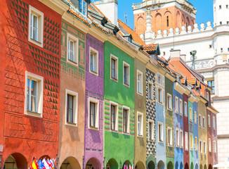 Obraz Kolorowe budynki na Starym Mieście w Poznaniu - fototapety do salonu