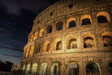 Rome, Italy. One of the most popular place in world at evening -
