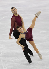 Olympics: Figure Skating-Team-Pairs Free Skate Program