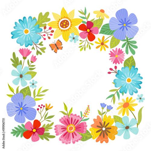 Square Floral Frame Design