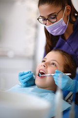 Dentist at work with patient in ambulant