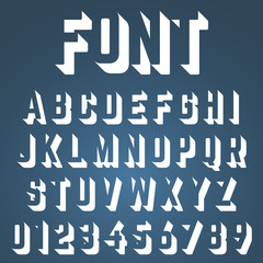 Alphabet font incomplete design