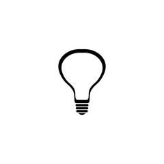 bulb icon. flat design