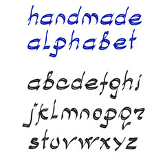 Vector illustration handmade alphabet