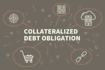 Conceptual business illustration with the words collateralized debt obligation