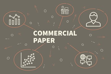 Conceptual business illustration with the words commercial paper