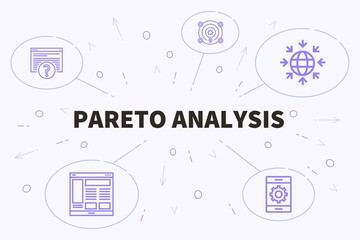 Conceptual business illustration with the words pareto analysis