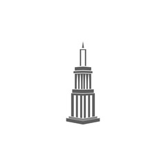 3d skyscraper building icon. Element of buildings for mobile concept and web apps. Icon for website design and development, app development. Premium icon