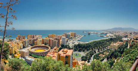 Panorama of Malaga City and Port