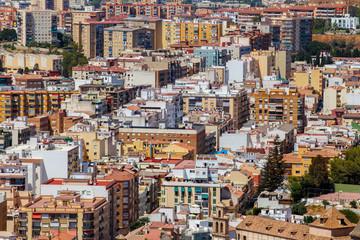 Cityscape of dense built area