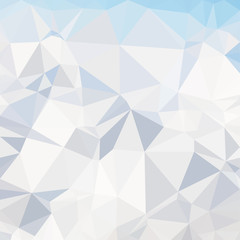 Abstract blue polygonal triangle background. Vector Polygon which consist of triangles. Geometric background in Origami style with gradient.