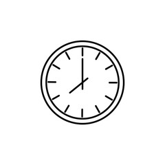 clock icon. Element of home appliances for mobile concept and web apps. Thin line icon for website design and development, app development. Premium icon