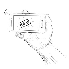 Sketch Illustration for Hoax (Fake) News, Isolated on White